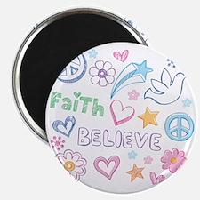 Peace, Faith, Love, Believe Magnet