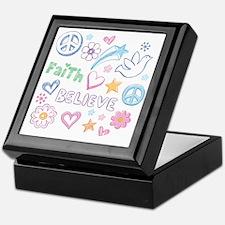 Peace, Faith, Love, Believe Keepsake Box