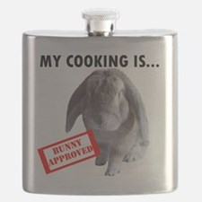 Bunny approved apron Flask