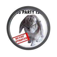 Bunny approved party Wall Clock