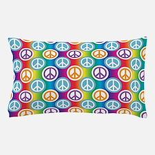 Hippy Peace Polka Dot Pillow Case