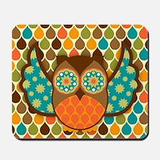 Owl Boheme Brown Mousepad