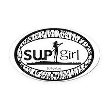 SUPgirl Oval Car Magnet