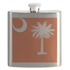 South Carolina Palmetto State Flag  Flask