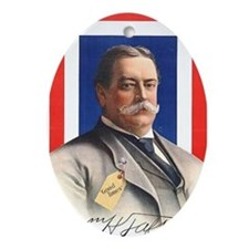 Taft for President Oval Ornament