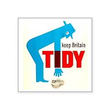 "Keep Britain Tidy Square Sticker 3"" x 3"""