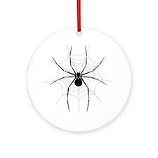 Spider Web Round Ornament