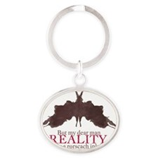 Alan Watts, Reality is an Rorscach I Oval Keychain