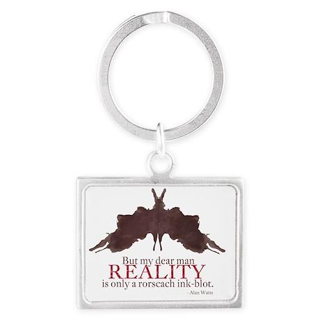 Alan Watts, Reality is an Rorsc Landscape Keychain