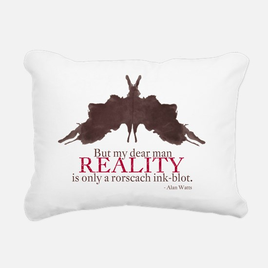 Alan Watts, Reality is a Rectangular Canvas Pillow
