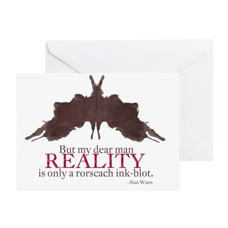 Alan Watts, Reality is an Rorscach I Greeting Card