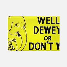 Dewey for President bumper sticke Rectangle Magnet