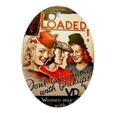 Loaded? Oval Ornament