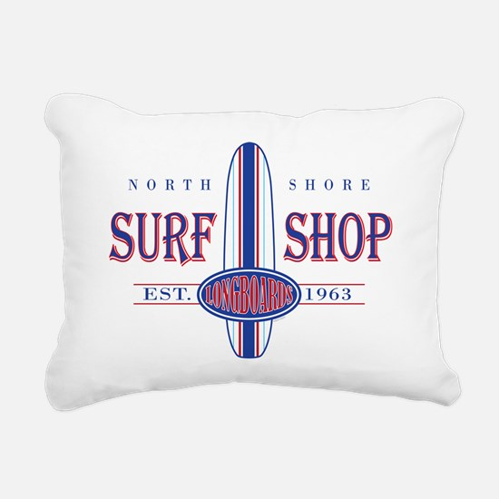 North Shore Surf Shop Rectangular Canvas Pillow