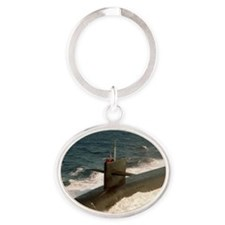 uss kentucky rectangle magnet Oval Keychain