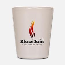 BlazeJam Logo - Light Shot Glass