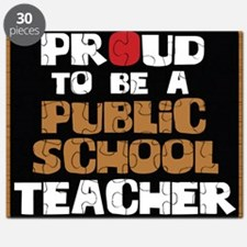 Proud To Be A Public School Teacher Puzzle