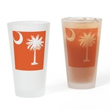 South Carolina State Palmetto Flag Drinking Glass