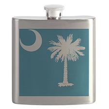 South Carolina State Palmetto Flag Flask