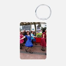 Lel loves to tap Keychains