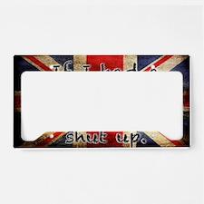 British Accent License Plate Holder