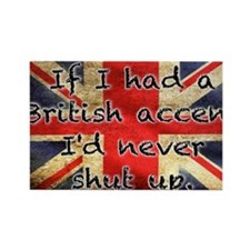 British Accent Rectangle Magnet