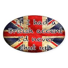 British Accent Decal