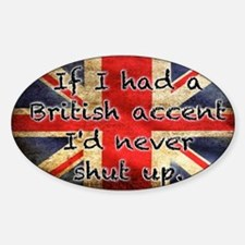British Accent Decal