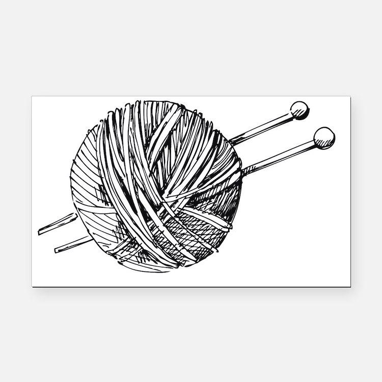 Knit Rectangle Car Magnet
