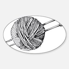 Knit Sticker (Oval)