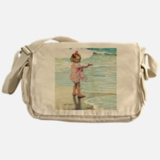 A Child at the Beach_SQ Messenger Bag