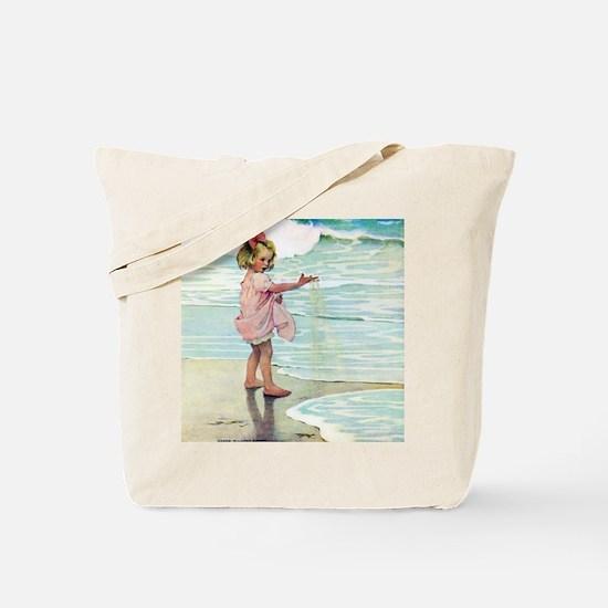 A Child at the Beach_SQ Tote Bag