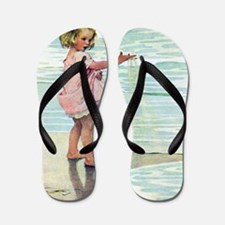 A Child at the Beach_SQ Flip Flops