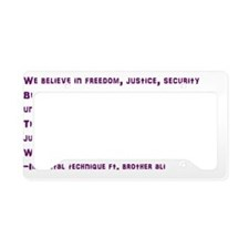 civil war lyric License Plate Holder
