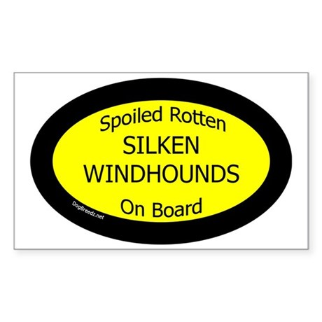Spoiled Silken Windhounds On B Sticker (Rectangle)
