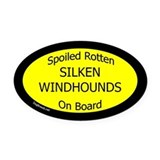 Silken windhound Car Magnets