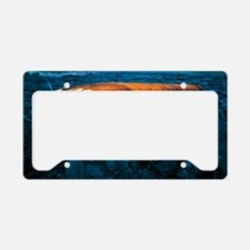 Bus and lava flow License Plate Holder