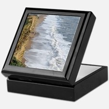 Burton Bradstock cliffs Keepsake Box