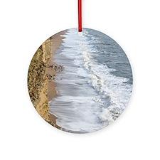 Burton Bradstock cliffs Round Ornament