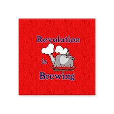 "Revolution is Brewing Square Sticker 3"" x 3"""
