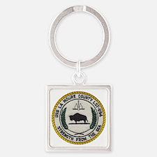 uss la moure county patch transpar Square Keychain