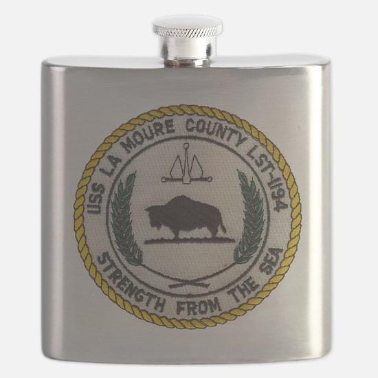 uss la moure county patch transparent Flask