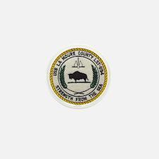 uss la moure county patch transparent Mini Button