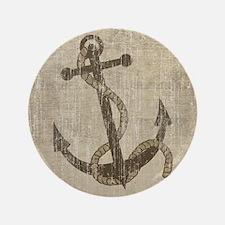 """Vintage Anchor 3.5"""" Button"""