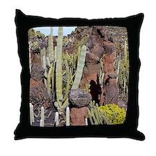 Cactus garden, Lanzarote Throw Pillow