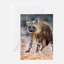 Brown hyena Greeting Card