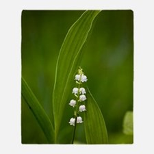 Convallaria majalis (Lily of the Val Throw Blanket