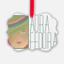 Aura Fedora Official Logo Gear Ornament