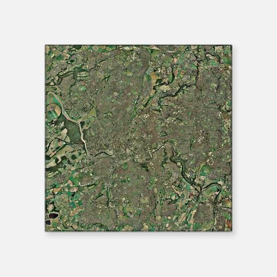 "Bristol, UK, aerial image Square Sticker 3"" x 3"""