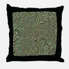 Bristol, UK, aerial image Throw Pillow